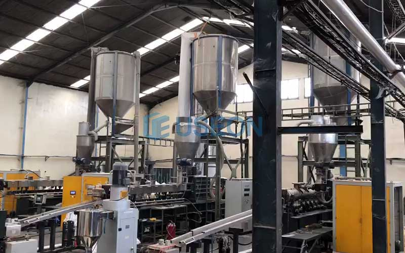 3 Lines PET Bottle Flakes Recycling Machine Project in Indonesia