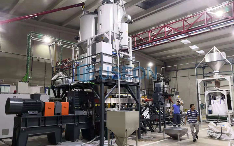 PET Bottle Flakes Recycling Machine Project in Spain