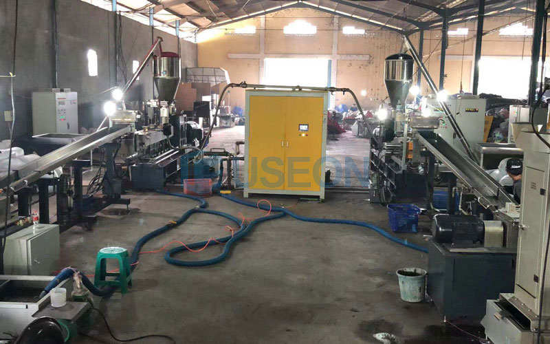 PET Popcorn Recycling Machine Project in Indonesia