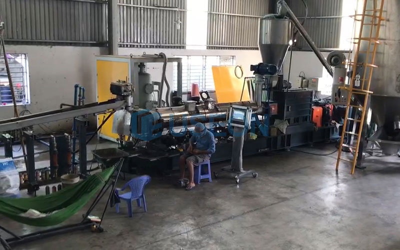 1000~1200kg/h PET Popcorn Recycling Machine Project in Vietnam