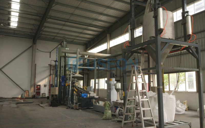 600~700kg/h PET Bottle Flakes Recycling Machine in Zhejiang, China