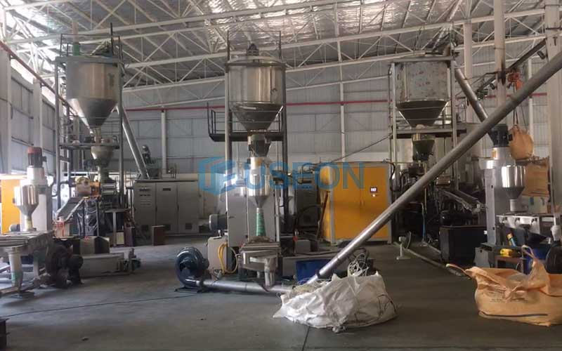 2019 thailand PET bottle flakes recycling machine