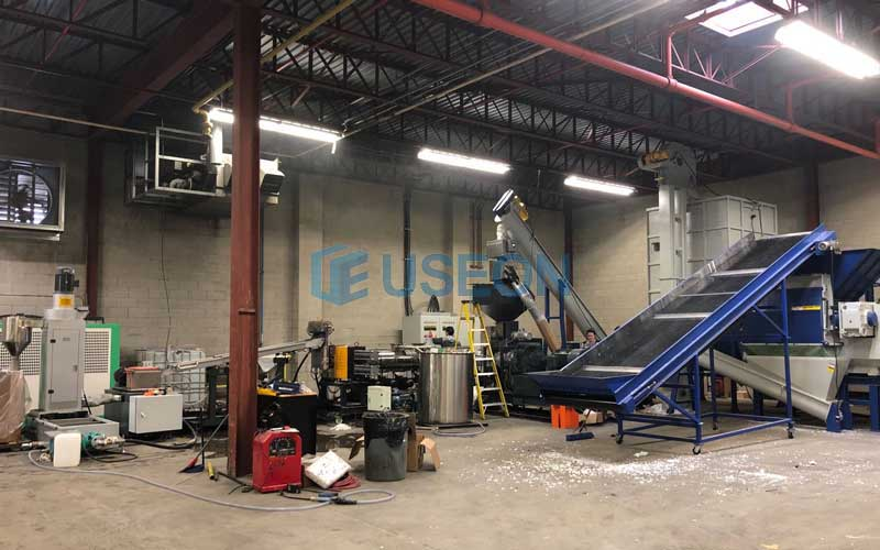 2019 Toronto PET Bottle Flakes Pelletizing Machine
