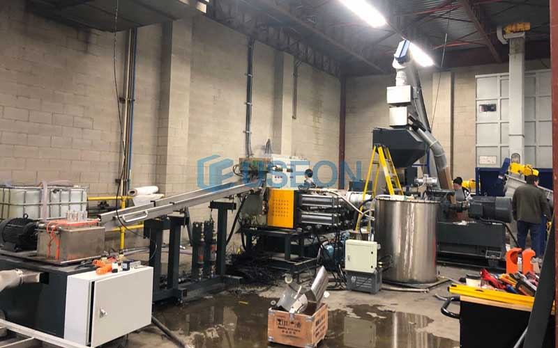2019 Toronto PET Bottle Flakes Pelletizing Machine