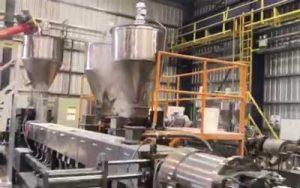 1200kg/h PE Filler Masterbatch Extrusion Line in Argentina