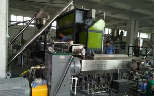 800kg/h PE Filler Masterbatch Extrusion Line in China