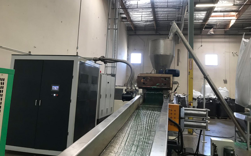 1100kg/h PET Bottle Flakes Recycling Line Project in USA