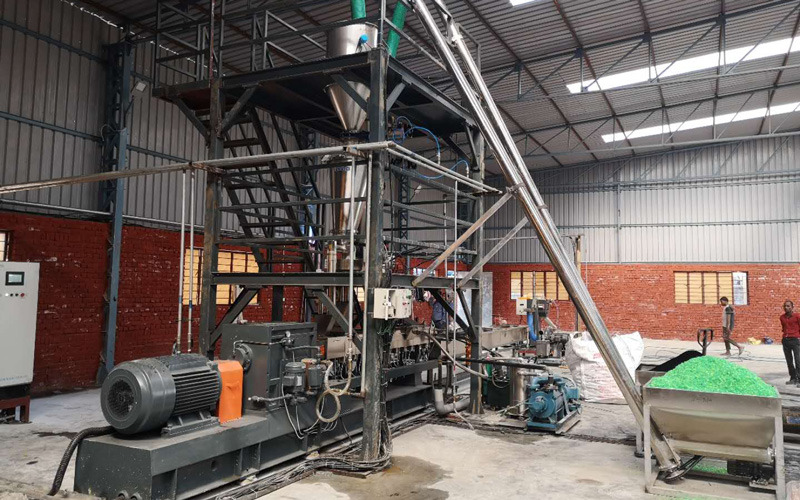 200kg per hour PET color masterbatch for PSF in India