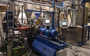 500kg/h TPE Pelletizing Extrusion Line in Turkey