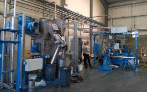 400kg/h Micro Pellets Color Masterbatch Pelletizing Line in UK