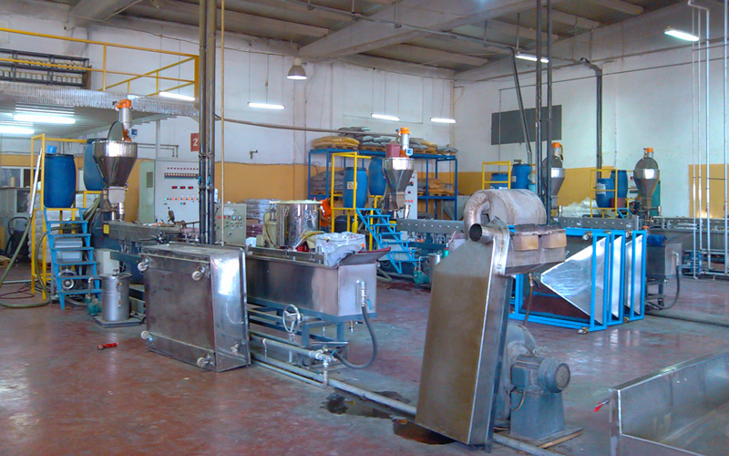 SAT65_300kgh PP Base Tailor-MadeMasterbatch Pelletizing Line in Turkey