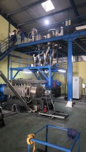 500kg/h Biodegradable PLA Compounding Line in Indonesia