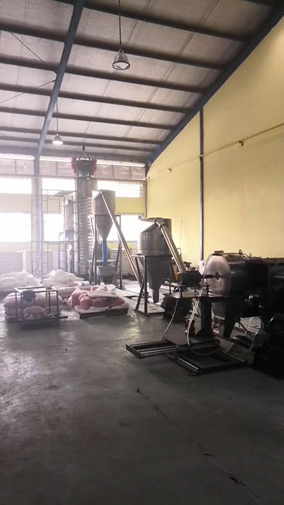 500kg/h Tandem Extrusion System for Biodegradable PLA Compounding with Starch Powder in Indonesia