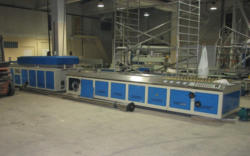700kg/h Wood Plastic Compounding Line in Latvia