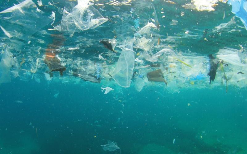Micro plastic in ocean