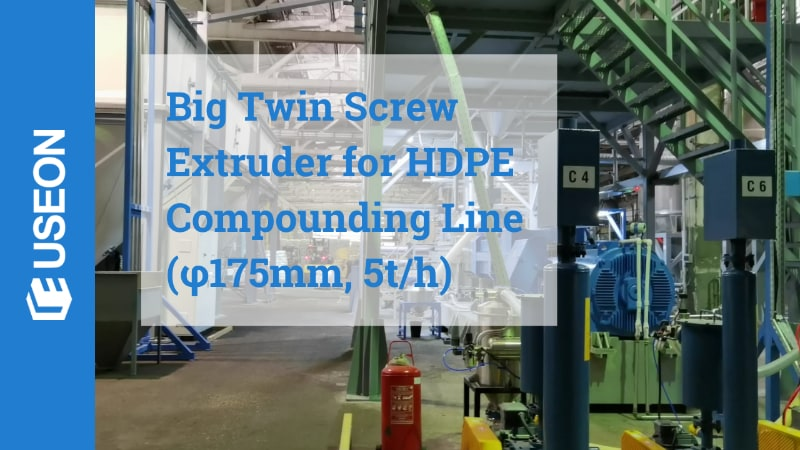 Big Twin Screw Extruder Compounding Line