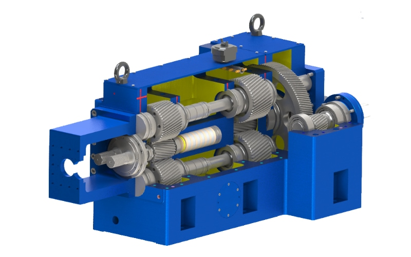 SAT Twin Screw Extruder High Torque Gearbox