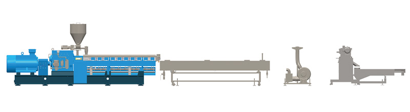 Water Cooling Strand Pelletizing System